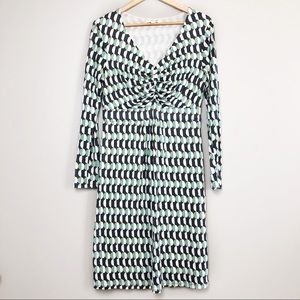Boden Abstract Geometric Printed Jersey Dress 10R